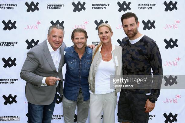 Manuel Rivera Paul Janke Alexandra von Schoening and Christoph Metzelder attend the Different Fashion Event on July 7 2017 in Sylt Germany