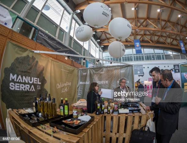 Manuel Serra Olive Oil stand in the International Trade Fair for Portuguese Food and Beverage 'SISAB 2017' on March 6 2017 in Lisbon Portugal More...