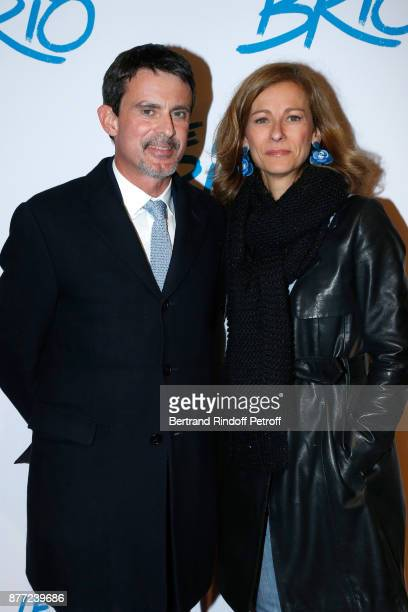Manuel Valls and his wife Anne Gravoin attend the 'Le Brio' movie Premiere at Cinema Gaumont Opera Capucines on November 21 2017 in Paris France