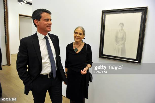 Manuel Valls visits the exhibition dedicated to his father the catalan painter Xavier Valls at the FernandezBraso art gallery accompanied by his...