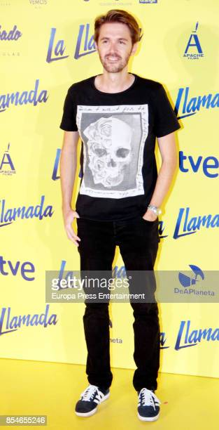 Manuel Velasco attends the 'La Llamada' premiere yellow carpet at the Capitol cinema on September 26 2017 in Madrid Spain