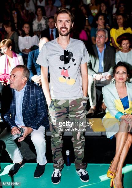 Manuel Velasco is seen at Angel Schlesser front row during MercedesBenz Fashion Week Madrid Spring/Summer 2018 on September 15 2017 in Madrid Spain