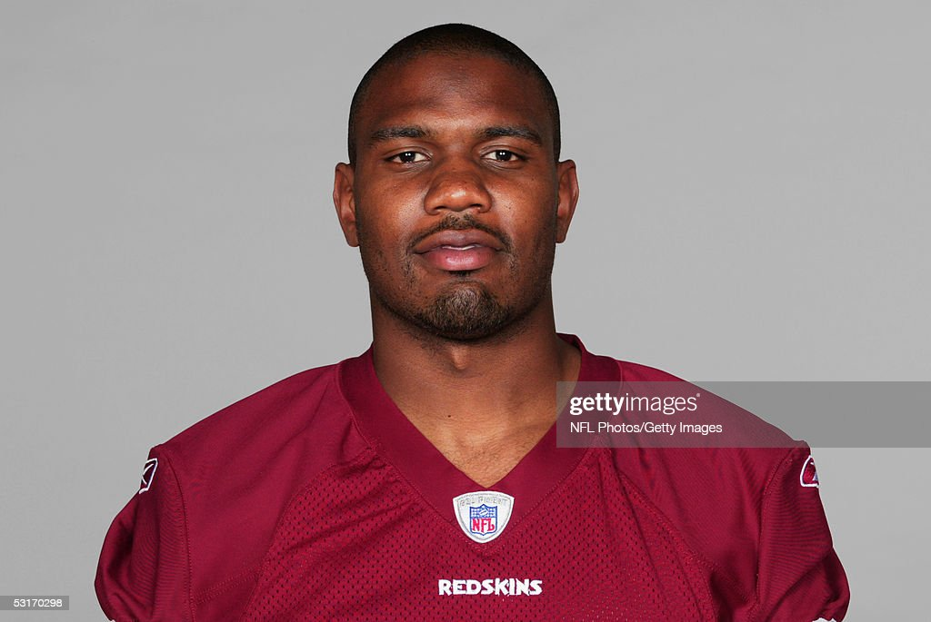 Manuel White, Jr. of the Washington Redskins poses for his 2005 NFL headshot at photo day in Landover, Maryland.
