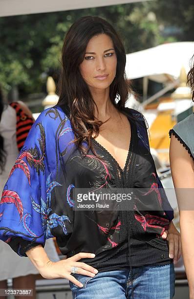 Manuela Arcuri attends The 68th Venice International Film Festival at on September 2 2011 in Venice Italy