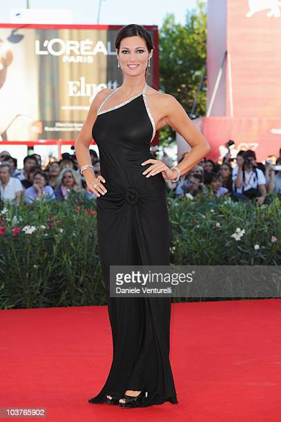 Manuela Arcuri attends the opening ceremony and the 'Black Swan' premiere at the Palazzo del Cinema during the 67th Venice International Film...