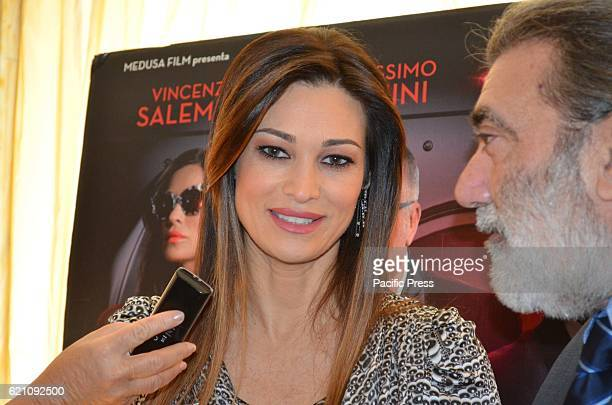 Manuela Arcuri italian actress during Press Conference of Don' t steal home of thieves new Italian comedy of the director Carlo Vanzina at the Hotel...