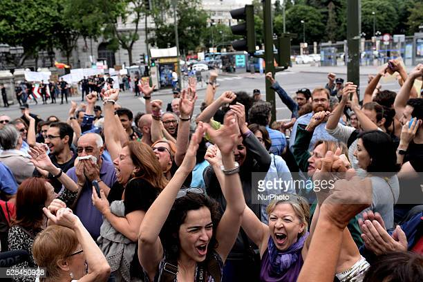 Manuela Carmena Ahora Madrid candidate elected mayor of Madrid with the votes of the Partido Solicialista Obrero Espa��ol on June 13 2015
