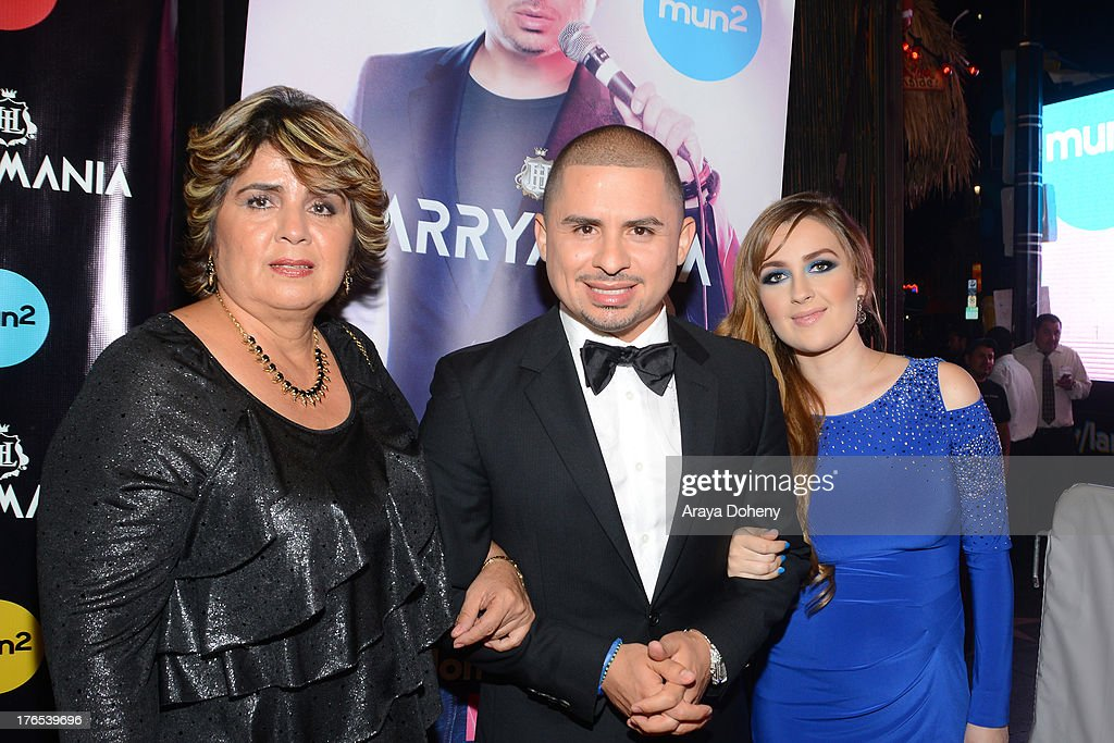 Manuela Ceniceros, <a gi-track='captionPersonalityLinkClicked' href=/galleries/search?phrase=Larry+Hernandez&family=editorial&specificpeople=6918528 ng-click='$event.stopPropagation()'>Larry Hernandez</a> and Kenia Ontiveros attend 'Larrymania' Season 2 Premiere Launch Party at SupperClub Los Angeles on August 14, 2013 in Los Angeles, California.