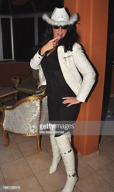 Manuela Dorn poses during the 'Pretty Woman' Party at FunPalast on April 8 2013 in Vienna Austria