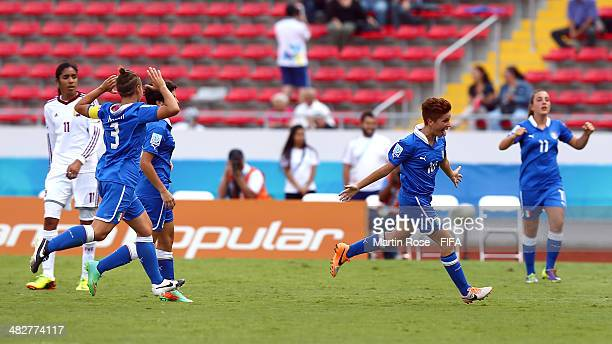 Manuela Giugliano of Italy celebrates after scoring during the FIFA U17 Women's World Cup 2014 3rd place play off match between Venezuela and Italy...