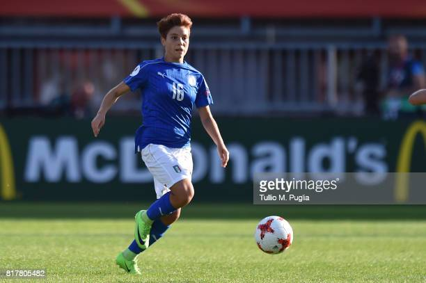 Manuela Giugliano of Italy in action during the UEFA Women's Euro 2017 Group B match between Italy and Russia at Sparta Stadion on July 17 2017 in...