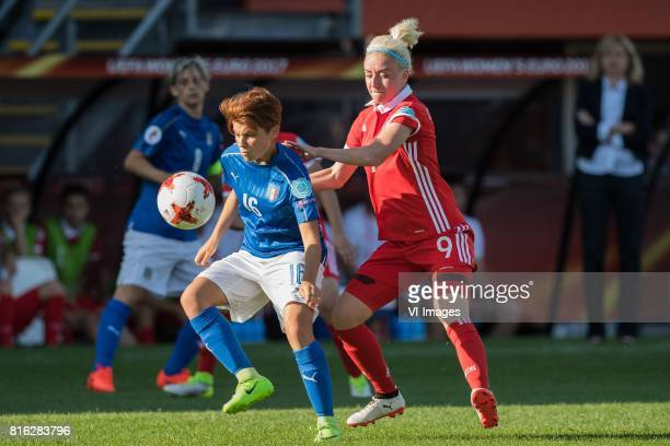 Manuela Giugliano of Italy Women Anna Cholovyaga of Russia women during the UEFA WEURO 2017 Group B group stage match between Italy and Russia at Het...