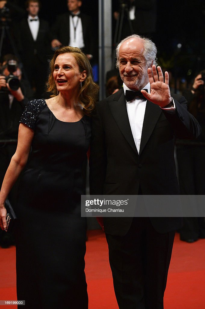 Manuela Lamanna and <a gi-track='captionPersonalityLinkClicked' href=/galleries/search?phrase=Toni+Servillo&family=editorial&specificpeople=3035146 ng-click='$event.stopPropagation()'>Toni Servillo</a> attend the Premiere of 'La Grande Bellezza' (The Great Beauty) during The 66th Annual Cannes Film Festival at Palais des Festivals on May 21, 2013 in Cannes, France.