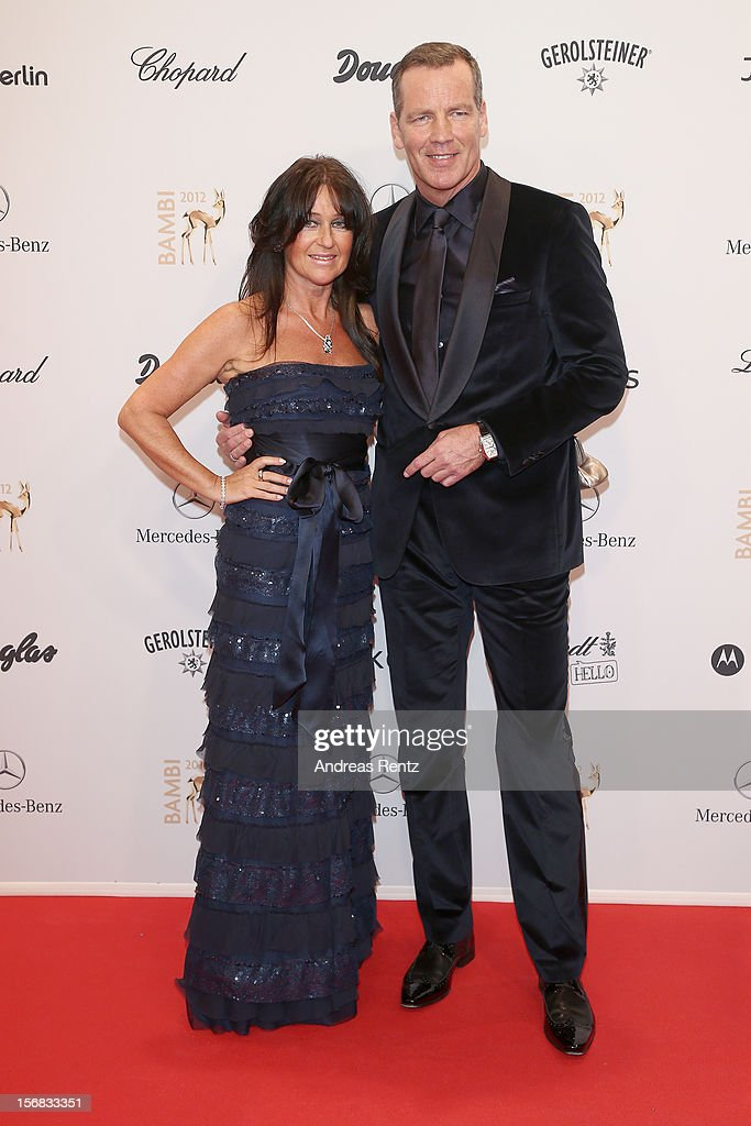 Manuela Maske and Henry Maske attend 'BAMBI Awards 2012' at the Stadthalle Duesseldorf on November 22, 2012 in Duesseldorf, Germany.