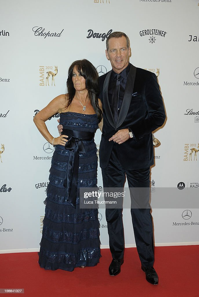 Manuela Maske and Henry Maske attends 'BAMBI Awards 2012' at the Stadthalle Duesseldorf on November 22, 2012 in Duesseldorf, Germany.
