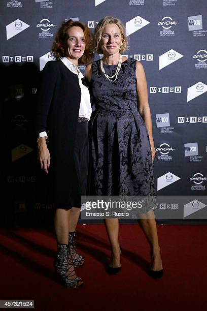 Manuela Migliosi and Giovanna Melandri attend the 'Rome film festival Opening Party' on October 16 2014 in Rome Italy