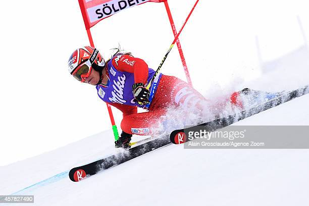 Manuela Moelgg of Italy competes during the Audi FIS Alpine Ski World Cup Women's Giant Slalom on October 25 2014 in Soelden Austria
