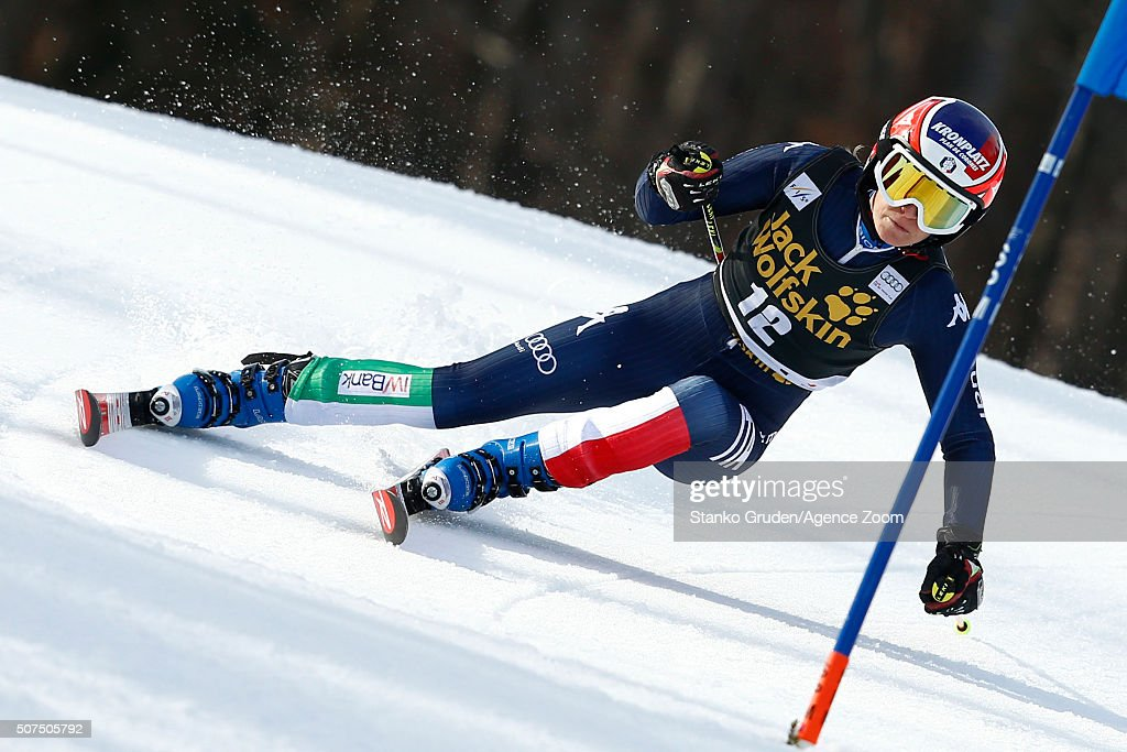 <a gi-track='captionPersonalityLinkClicked' href=/galleries/search?phrase=Manuela+Moelgg&family=editorial&specificpeople=801741 ng-click='$event.stopPropagation()'>Manuela Moelgg</a> of Italy competes during the Audi FIS Alpine Ski World Cup Women's Giant Slalom on January 30, 2016 in Maribor, Slovenia.