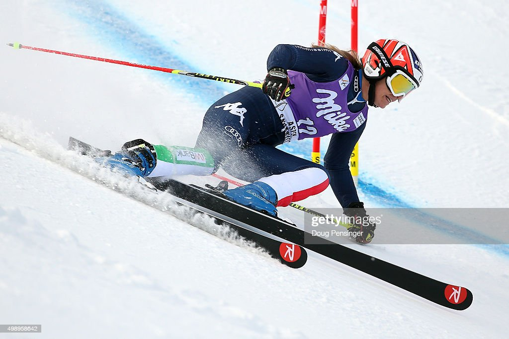 <a gi-track='captionPersonalityLinkClicked' href=/galleries/search?phrase=Manuela+Moelgg&family=editorial&specificpeople=801741 ng-click='$event.stopPropagation()'>Manuela Moelgg</a> of Italy competes in the first run of the giant slalom during the Audi FIS Women's Alpine Ski World Cup at the Nature Valley Aspen Winternational on November 27, 2015 in Aspen, Colorado.