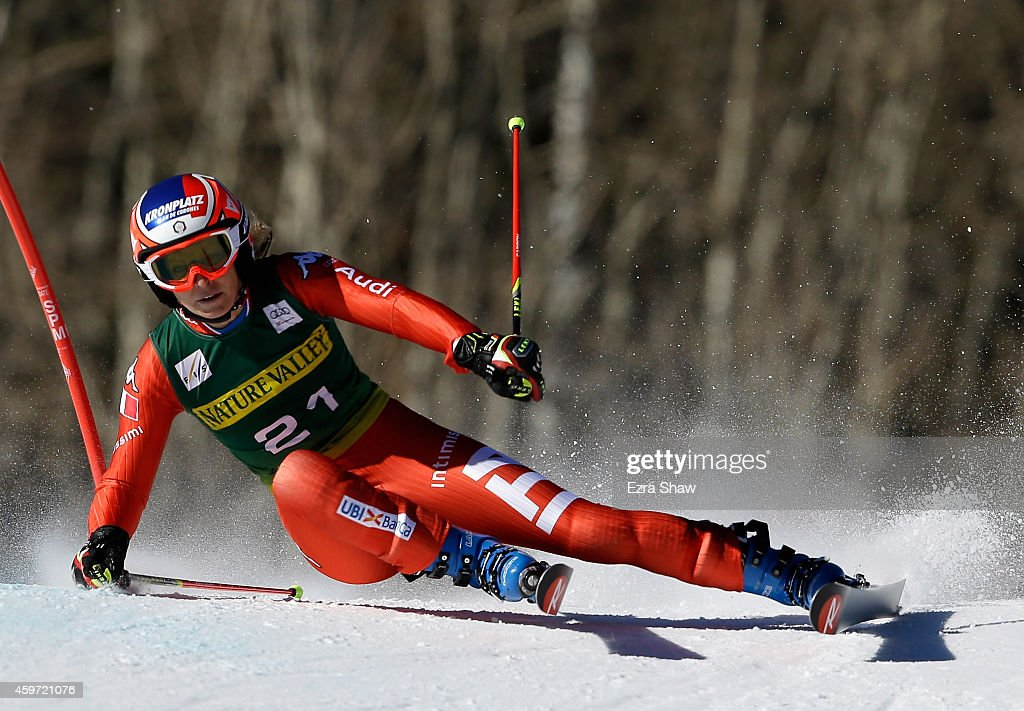 <a gi-track='captionPersonalityLinkClicked' href=/galleries/search?phrase=Manuela+Moelgg&family=editorial&specificpeople=801741 ng-click='$event.stopPropagation()'>Manuela Moelgg</a> of Italy competes in the first run of the ladies giants slalom during the 2014 Audi FIS Ski World Cup at the Nature Valley Aspen Winternational at Aspen Mountain on November 29, 2014 in Aspen, Colorado.
