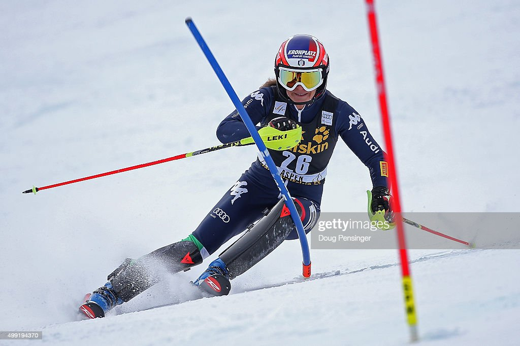 <a gi-track='captionPersonalityLinkClicked' href=/galleries/search?phrase=Manuela+Moelgg&family=editorial&specificpeople=801741 ng-click='$event.stopPropagation()'>Manuela Moelgg</a> of Italy skis to 23rd place in slalom during the Adui FIS Women's Alpine Ski World Cup at the Nature Valley Aspen Winternational on November 29, 2015 in Aspen, Colorado.