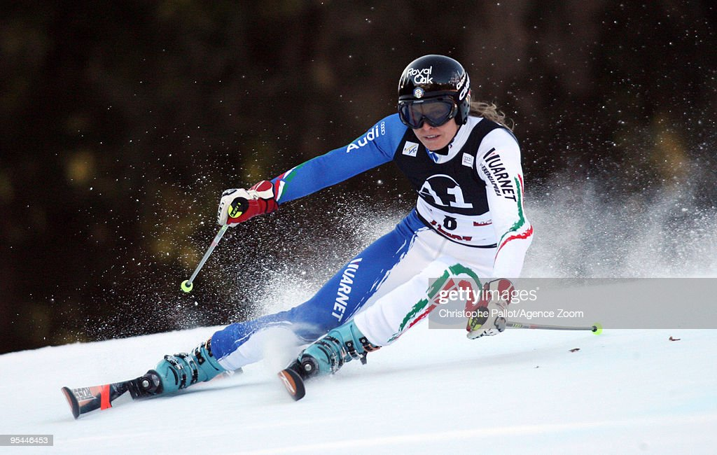 <a gi-track='captionPersonalityLinkClicked' href=/galleries/search?phrase=Manuela+Moelgg&family=editorial&specificpeople=801741 ng-click='$event.stopPropagation()'>Manuela Moelgg</a> of Italy takes 2nd place during the Audi FIS Alpine Ski World Cup Women's Giant Slalom on December 28, 2009 in Lienz, Austria.