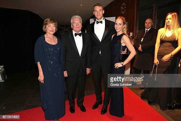 Manuela Schadt and Bundespraesident Joachim Gauck Manuel Neuer goal keeper FC Bayern Munich and his girlfriend Nina Weiss during the 23rd Opera Gala...