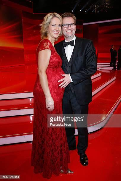 Manuela Schwesig and Stefan Schwesig attend the Ein Herz Fuer Kinder Gala 2015 show at Tempelhof Airport on December 5 2015 in Berlin Germany