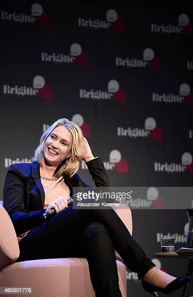 Manuela Schwesig smiles during the 'Brigitte Live Die Stunden der Frauen' talk at Hamburger Kammerspiele on December 15 2014 in Hamburg Germany