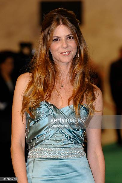 Manuela Velasco arrives to the 2010 edition of the 'Goya Cinema Awards' ceremony at the Palacio de Congresos on February 14 2010 in Madrid Spain