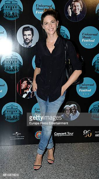 Manuela Velasco attends Elton John concert at the Royal Theater on July 20 2015 in Madrid Spain