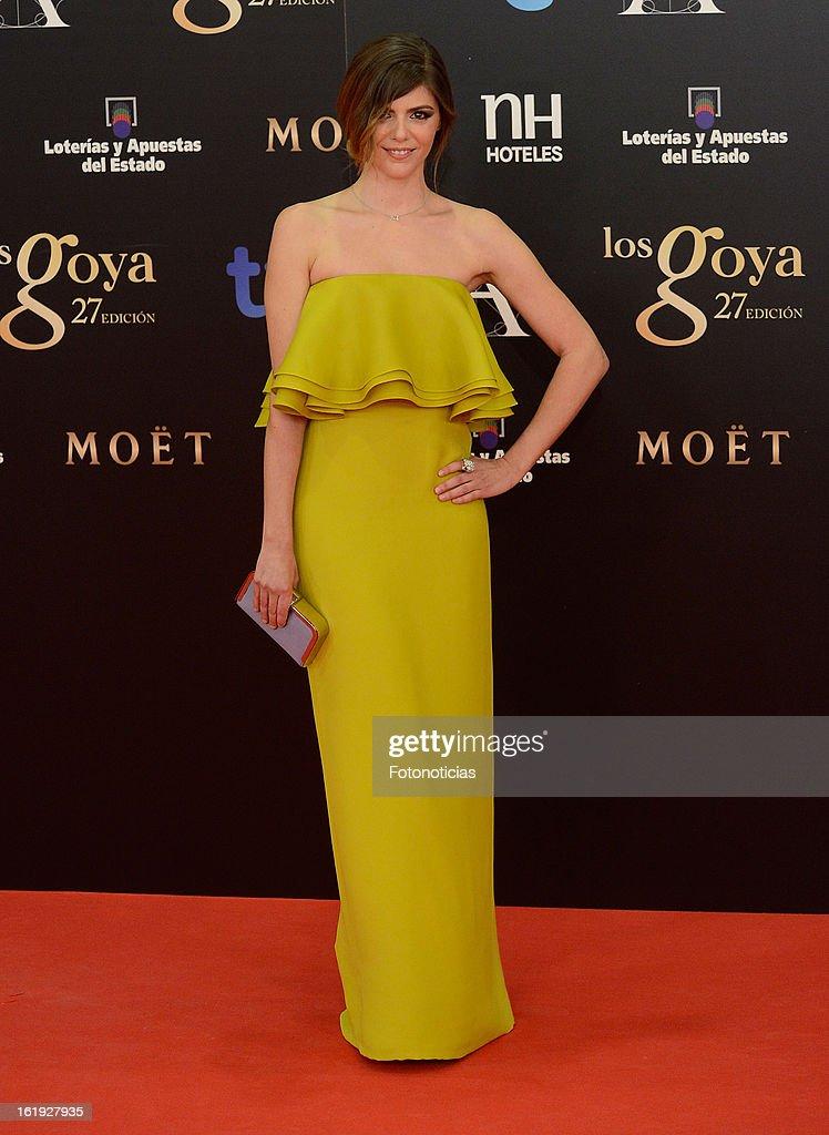 Manuela Velasco attends Goya Cinema Awards 2013 at Centro de Congresos Principe Felipe on February 17, 2013 in Madrid, Spain.