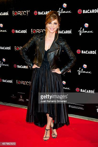 Manuela Velasco attends 'REC 4' premiere at Capitol Cinema on October 27 2014 in Madrid Spain