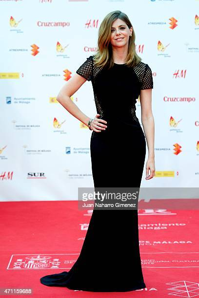 Manuela Velasco attends the 'Solo Quimica' premiere during the 18th Malaga Spanish Film Festival at the Cervantes Theater on April 25 2015 in Malaga...