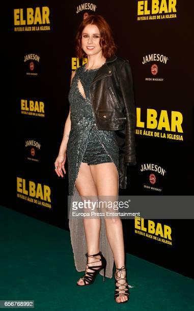 Manuela Velles attends 'El Bar' premiere at Callao cinema on March 22 2017 in Madrid Spain