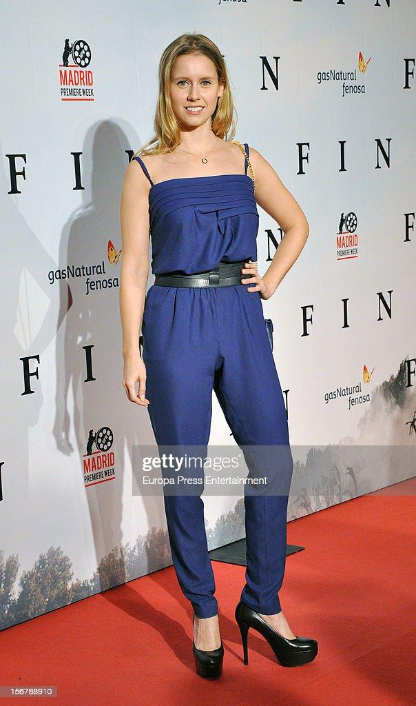 Manuela Velles attends 'Fin' premiere on November 20, 2012 in Madrid, Spain.