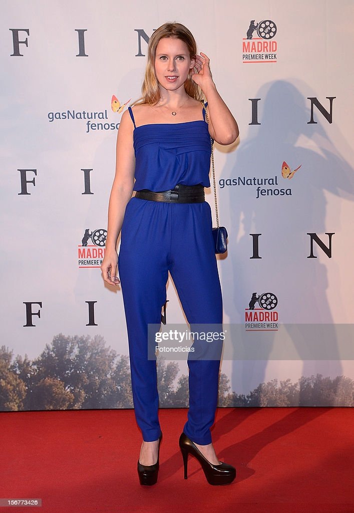 Manuela Velles attends the premiere of 'Fin' at Callao Cinema on November 20, 2012 in Madrid, Spain.