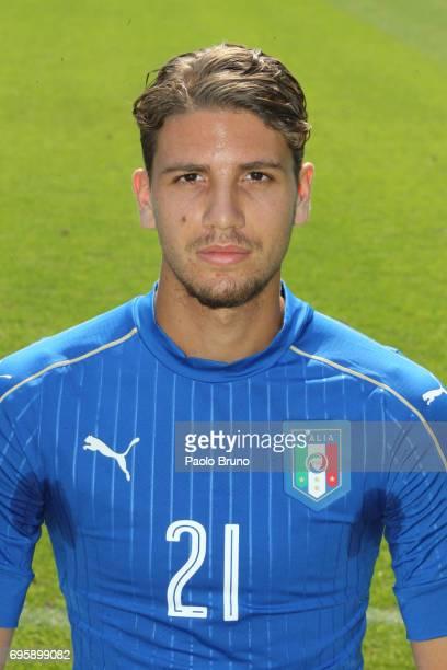 Manuele Locatelli of Italy U21 poses during the official team photo at Centro Sportivo Fulvio Bernardini on June 14 2017 in Rome Italy