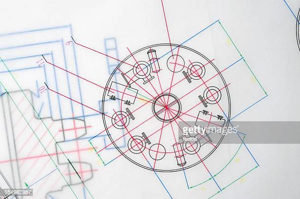 Manufacturing Blueprint Paperwork Document-Industry Design Printout