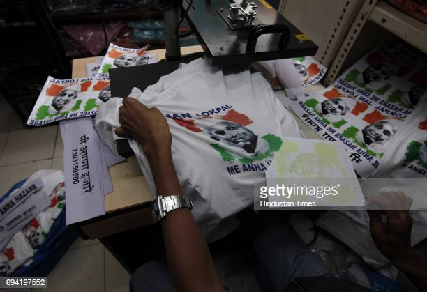 Manufacturing of Gandhi Topis is in full swing at Shudha Khadi Bhandar Lalbaug for sell as Anna Hazare will start his fast for a strong Lokpal bill