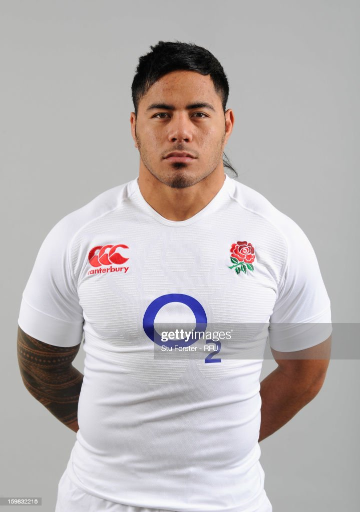Manusamoa Tuilagi of England poses for a portrait during the England rugby union squad photo call at Weetwood Hall on January 21 2013 in Leeds England