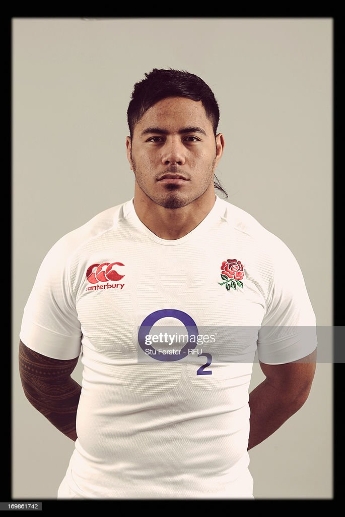 Manusamoa Tuilagi of England poses for a portrait during the England rugby union squad photo call at Weetwood Hall on January 21, 2013 in Leeds, England.