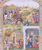 Manuscript Illumination Depicting History of Saul David and Solomon by Andre d'Ypres
