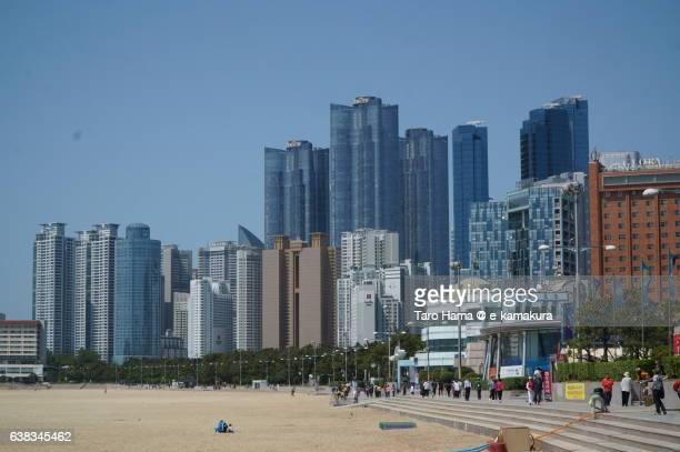 Many buildings near Haeundae beach in Busan