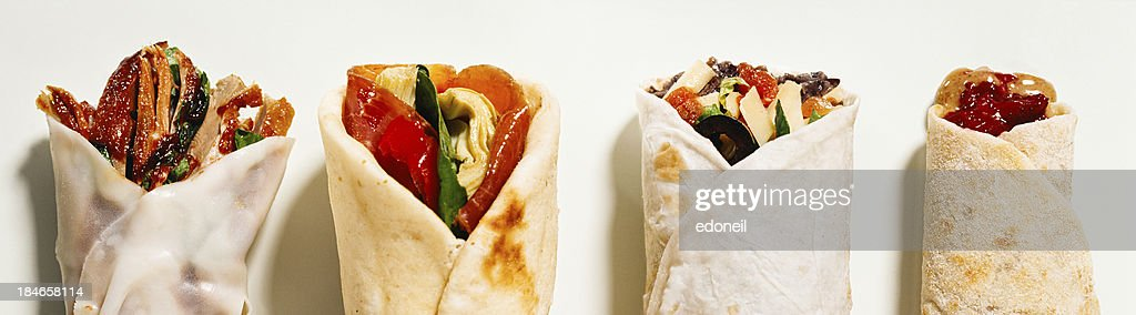 Many burritos : Stock Photo