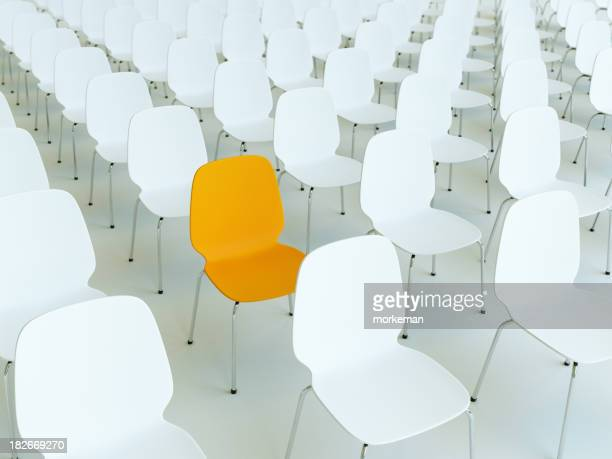 many chairs lined up