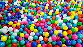 Many colored balls