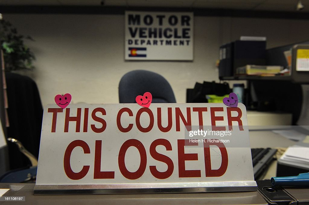 Many Counters Have Been Closed At The Department Of Motor
