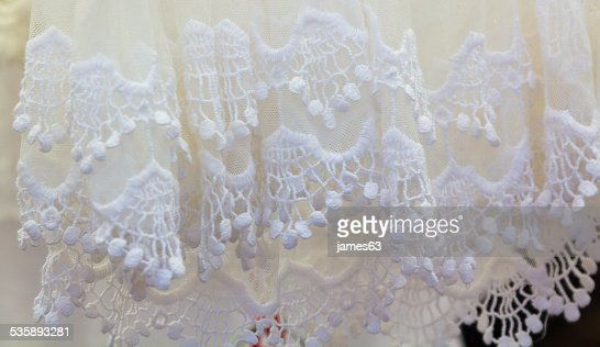 many dressed in white crochet for summer : Stockfoto