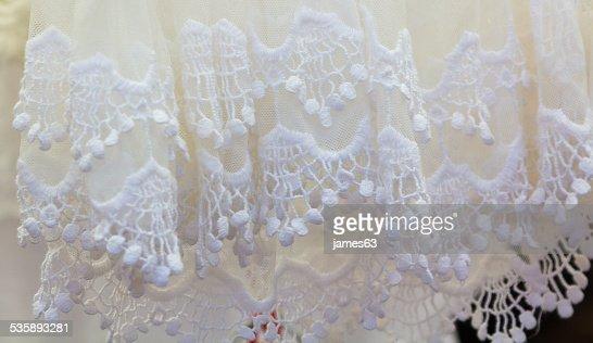 many dressed in white crochet for summer : Stock Photo